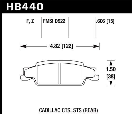 Grand Prix Hawk Performance Ceramic Brake Pads Rear For HB440Z.606 CTS STS