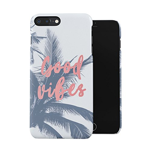 Good Vibes Tropical Palm Plastic Phone Snap On Back Case Cover Shell for iPhone 7 Plus & iPhone 8 Plus