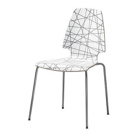Ikea Vilmar - Sedia, a strisce nero, cromato: Amazon.it: Casa e cucina
