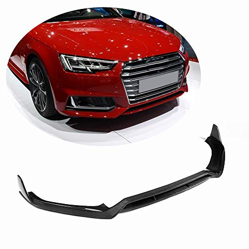 (MCARCAR KIT Front Spoiler fits Audi A4 B9 Sline & S4 Sedan 2017 2018 2019 Factory CNC Moulding Tuning Carbon Fiber Front Bumper Lip Chin Splitter)