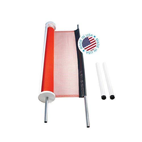 Kidkusion Retractable Driveway Guard, Orange, 25' | Driveway Safety; Outdoor; Barrier; Adjustable (Driveway Gate Parts)