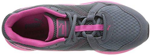 Puma Descendant v2 Wns - Zapatillas de running de material sintético para mujer gris gris 37 gris - Grau (turbulence-fuchsia purple 03)