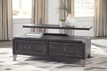 Signature Design by Ashley T901-9 The Todoe Coffee Table with Lift Top, Dark Gray
