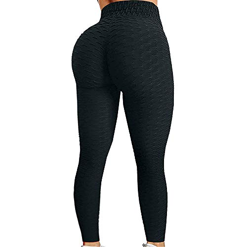 Yakuin High Waist Yoga Leggings for Women, Workout Exercise Pant Black