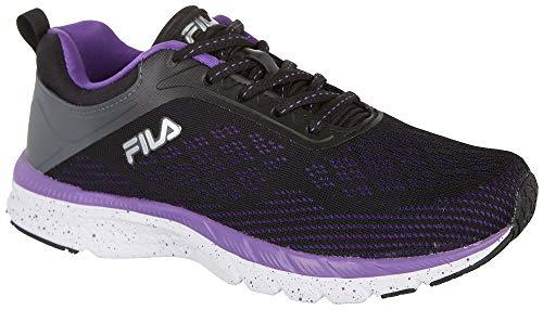 Fila Womens Memory Foam Outreach Athletic Shoe (Black, 8) Black Fila Womens Shoes