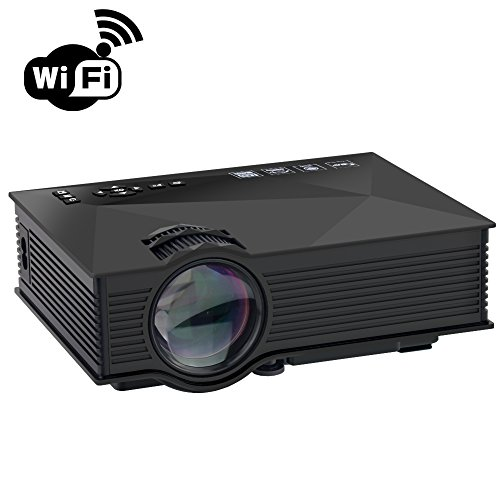 """BYINTEK Wireless 800x480 Full Color 120"""" Mini LED HDMI USB Portable LCD Video Projector Support Miracast Airplay DLNA Image"""