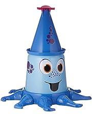 BIG-Aqua-Nauti, watersproeier met tot 4 meter hoge straal, tuinsproeier voor kinderen in kraakvorm, gestandaardiseerde slangaansluiting met afdichting, voor kinderen vanaf 3 jaar, Blauw