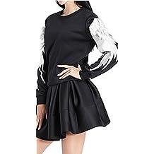 RubySports Women's 3D Embroidery Feather Angel Wings Sweatshirts XS-XXL