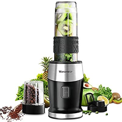 Personal Blender, Willsence Smoothie Blender 2-in-1 Single Serve Blender, Mini Bullet Blender 300W with 20 Oz Tritan Sports Bottle for Juices, Shakes and Smoothies