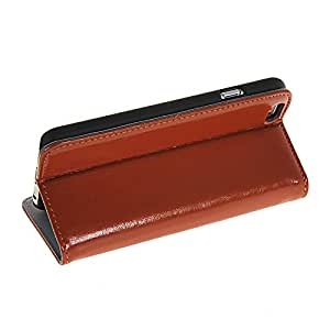 Flip Leather Wallet Card Pouch Stand Back Case Cover For Apple iPhone 6 Brown