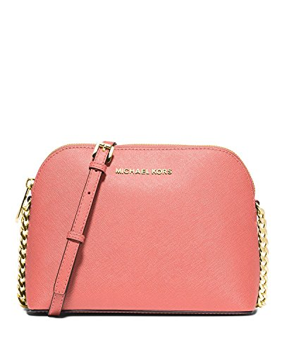 Michael Kors Cindy Large Dome Crossbody in Pink Grapefruit