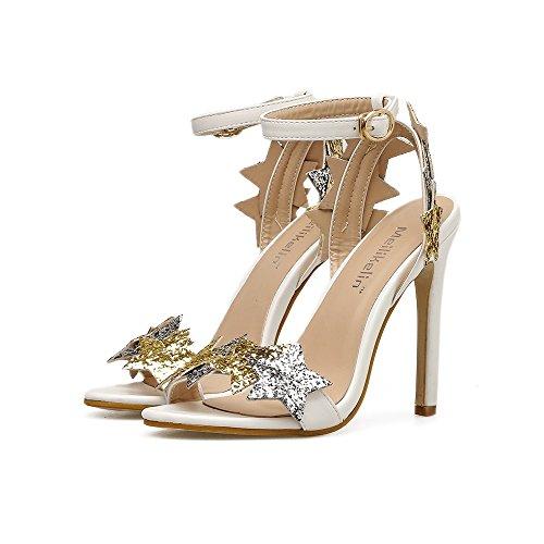 572c621f De bajo costo Zapatos de Mujer Lentejuelas Primavera Verano Confort Sandalias  Tacón de Aguja Hebilla de