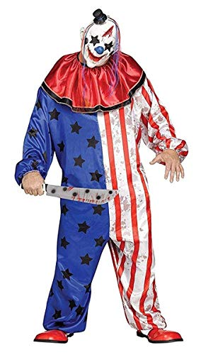 Extremely Scary Halloween Costumes (Fun World Men's Evil Circus Clown Adult Costume, Multi,)