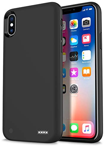 iPhone X Battery Case, Ymicomice Slim iPhone X Case Battery with 4000 mAh Rechargeable Charging Case for iPhone X,Battery Pack Protective Case Battery for iPhone X (Black)