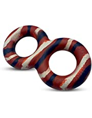 Goughnuts - Virtually Indestructible, Guaranteed Dog Pull Toy for Tug of War with Large Dogs 30-70 Pounds - Natural Durable Rubber for Aggressive Power Chewers