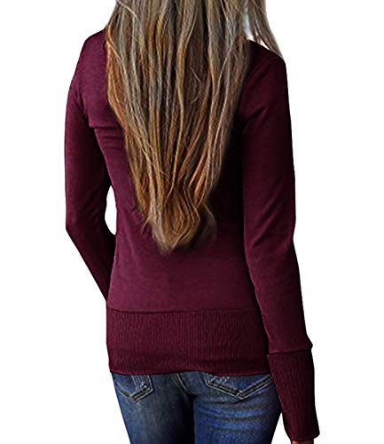 fc2959e84ad9 Womens-V-Neck-Solid-Solid-Button-Down-Knitwear-
