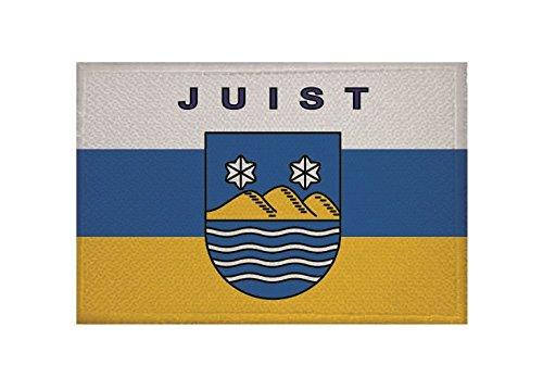 U24 Aufnä her Juist Fahne Flagge Aufbü gler Patch 9 x 6 cm Universalhandel24.de
