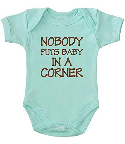 BabyPrem Baby Bodysuit Nobody Puts Baby in Corner Creeper Clothes Aqua 0-3 MTH