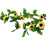 jiumengya-5Pcs-Artificial-Sunflower-Vines-Simulation-Yellow-Sunflower-Vine-8-Flower-Heads-220cm-Long-for-Home-Party-Wall-Decorations-Yellow