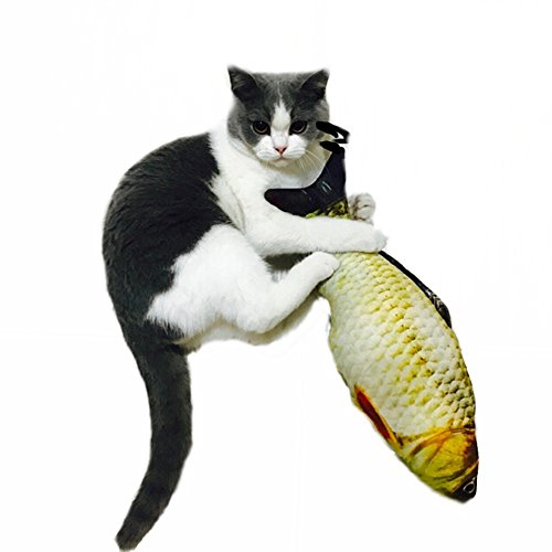 PL S-Lifeeling Cushion Pillow Animal Cat Toy Fish Toy Simulated Creative Fish Cat Toy for Cat/Kitty/Kitten price tips cheap
