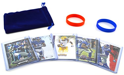 Odell Beckham Jr   5  Assorted Football Cards Bundle   New York Giants Trading Cards