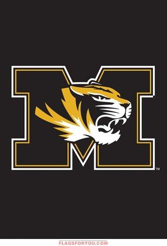 Party Animal NCAA Missouri Tigers Garden Flag