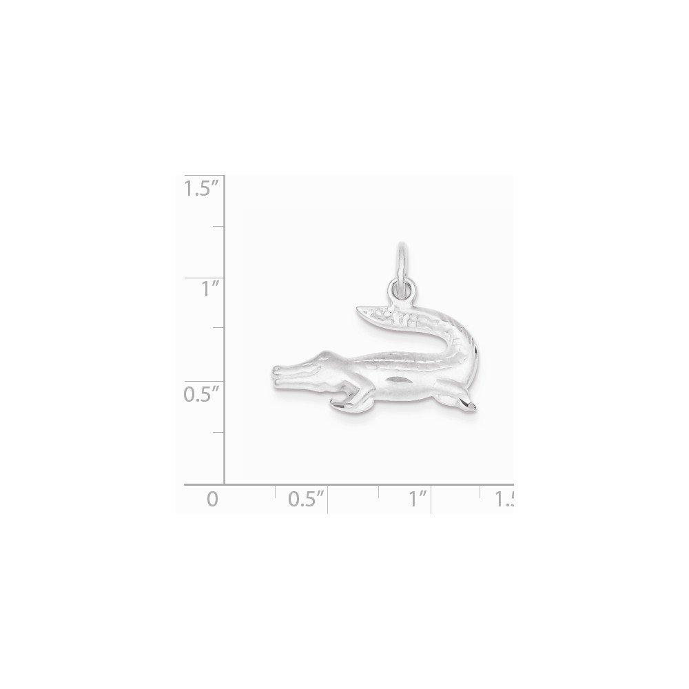 Sterling Silver Alligator Charm