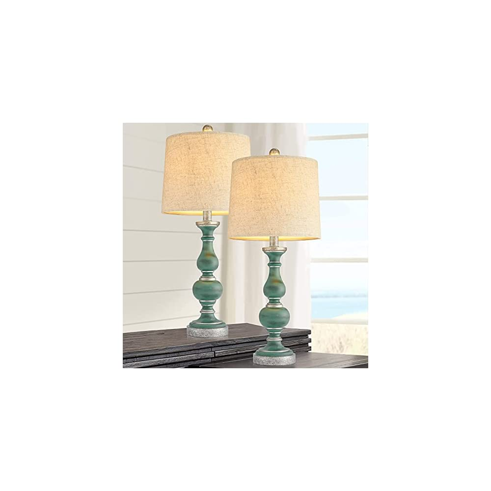 PORTRES 24.5'' Retro Style Table Lamp Set of 2 for Bedroom Accent Table Desk Lamps for Living Room Kids Room Study Room…