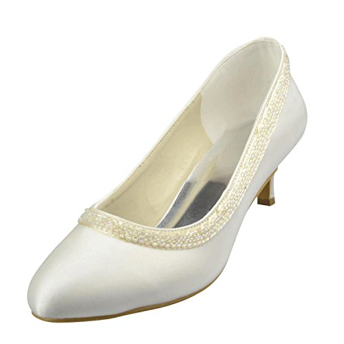 Kevin Fashion - Zapatos de boda fashion mujer blanco