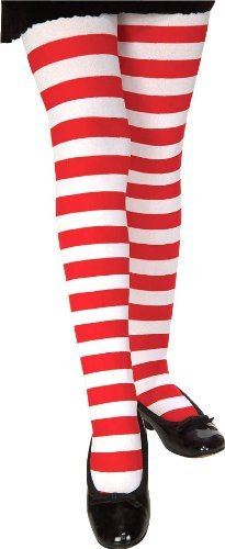 [Rubie's Costume Co Child Rd/White Stripe Tights Costume, Small] (Tights Costumes Accessory)