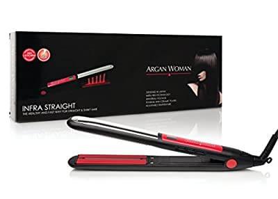 "Flat Iron Hair Straightener Professional Digital Ceramic Tourmaline Ionic for woman - Infrared 1"""