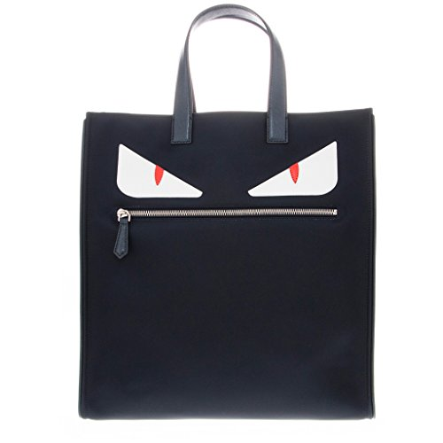 Handbag Blue Fendi (Fendi Men's Monster-Creature Tote Navy)