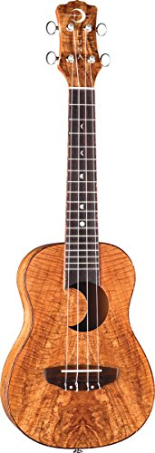 Luna Exotic Series Spalt Maple Concert Ukulele with Crescent Moon Soundhole