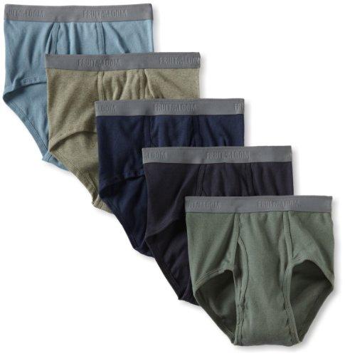 Fruit of the Loom Men's Premium  Fashion Brief, Assorted Colors, Medium(Pack of 5)