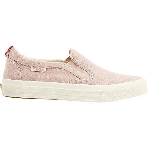 Taos New Women's Rubber Soul Slip On Sneaker Pink Wash Canvas 8.5