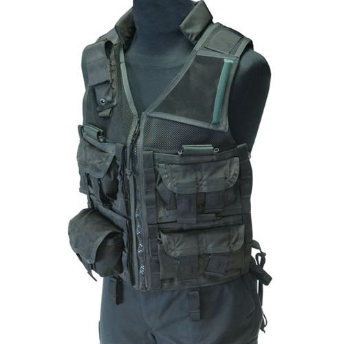 Eagle Industries TAC-SVD Tactical Sniper Nylon Vest, Black, Large by Eagle Industries