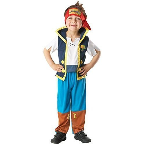 Official Licensed Disney Girls Boys Izzy or Jake and The Neverland Pirates Book Day Week Halloween Fancy Dress Costume Outfit (5-6 Years, Jake)