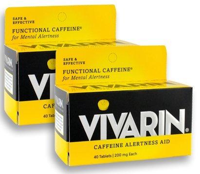 Vivarin Caffeine Alertness Aid 200mg, 40 Tablets, 2 Count, Functional Caffeine for Mental Alertness, Same Caffeine as a Cup of - Caffeine Aid Alertness Tablets