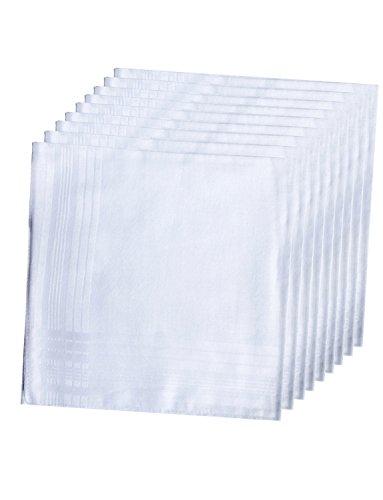 LACS Men's Solid White Cotton Handkerchiefs Pack by LACS Handkerchiefs