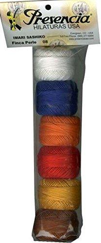 Perle Cotton Size 8 Thread Sampler Pack Imari Sashiko ()