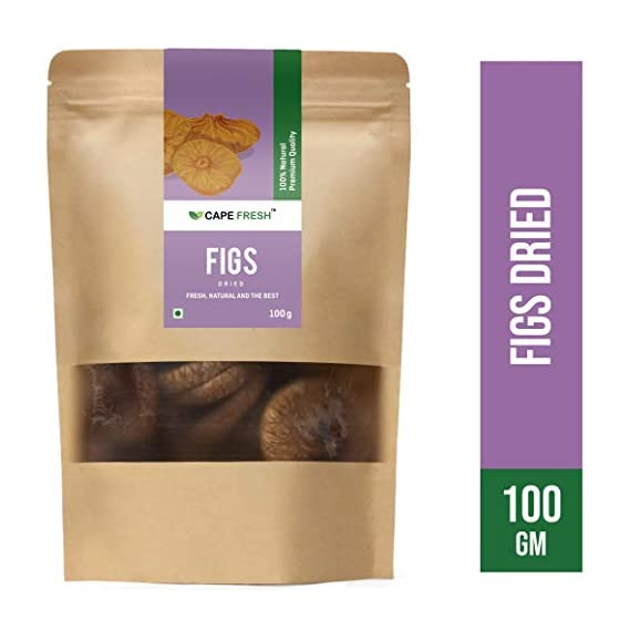 Cape Fresh Dried Figs 100g | Anjeer | Whole | Natural | Pure | Raw | Premium Quality