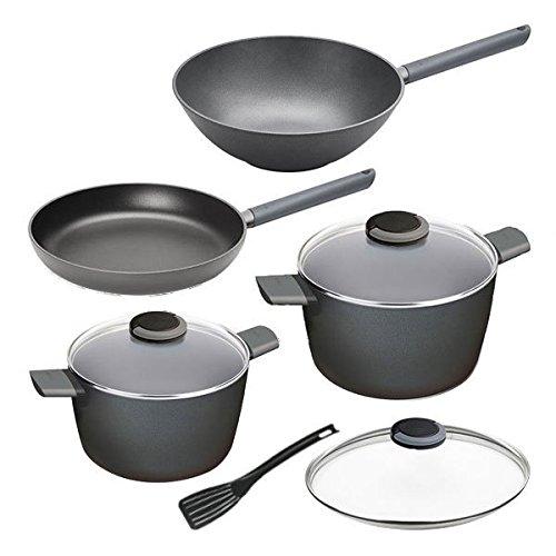 Woll Just Cook Set 5tlg ollas Sartenes, color: negro: Amazon.es: Hogar