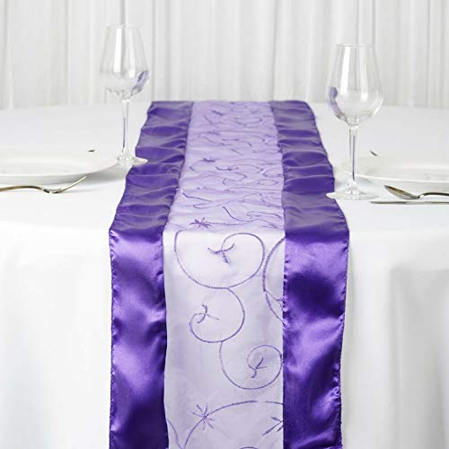 Mikash 14 x 108 Embroidered Table Runners Wedding Party Dinner Supply Decorations   Model WDDNGDCRTN - 2649   1 pc -