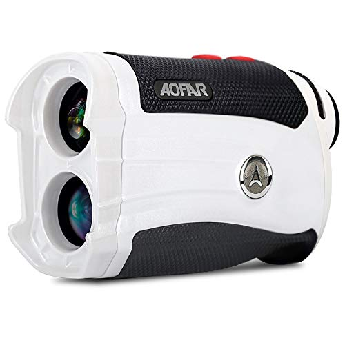 AOFAR GX-2s Slope Golf Rangefinder,600 Yards White Woman Range Finder,Flagpole Lock, Vibration, 6X 25mm Waterproof, Carrying Case, Battery, Gift Packaging