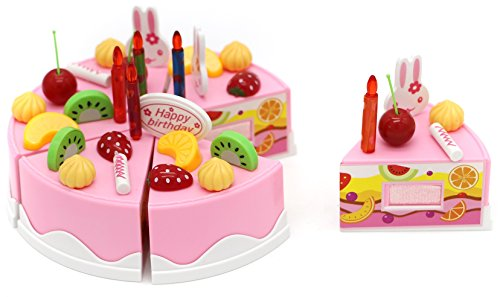 Little Treasures Party Toy Cake - Velcro Play Food Set fo...