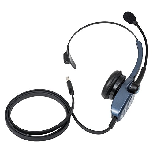 VXi BlueParrott B250-XT Bluetooth Headset with AC Power Supply - INCLUDES - MobileSpec 12V Replacement Car Charger AND Blucoil 5-Pack of Cable Ties by blucoil (Image #2)