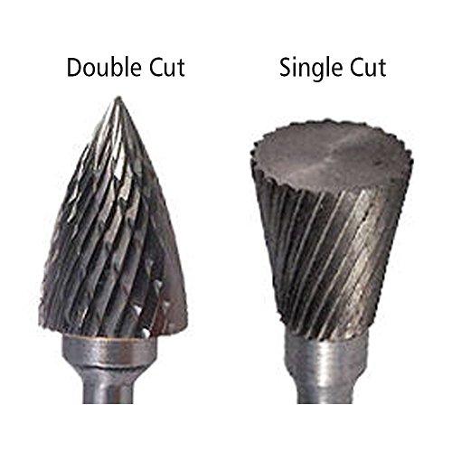 SF-6 Tree Radius End Shape Carbide Burr Die Grinder Bit Single Cut by Carbide Burr (Image #1)