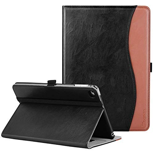 Ztotop iPad Mini 4 Case, Premium Leather Folio Stand Protective Case Smart Cover with Multi-Angle Viewing, Paperwork Card Pocket, Functional Elastic Strap for Apple iPad Mini 4 - Black Brown