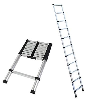 Magshion Telescoping Ladder Aluminum Telescopic Extension Tall EN131