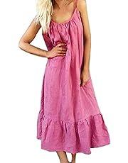 Vestidos Mujer Casual 2019-Ronamick Estilo de Negocios vestidos de fiesta mujer (Hot Rosado,XXL) Mujer Verano 2019